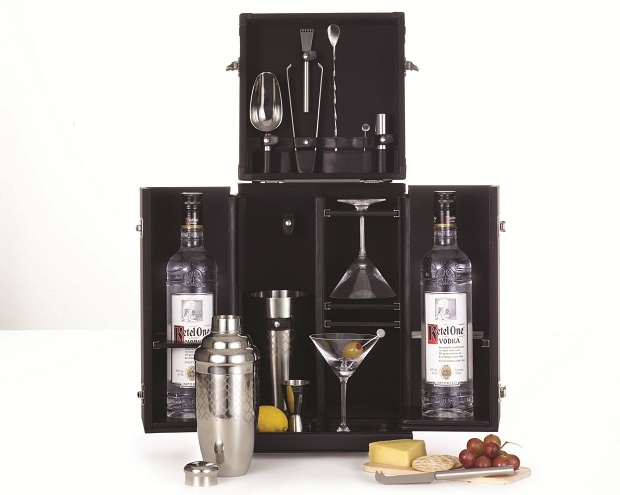 Limited Edition Mixology Set by Tumi and Ketel One Vodka, at Harrods in December