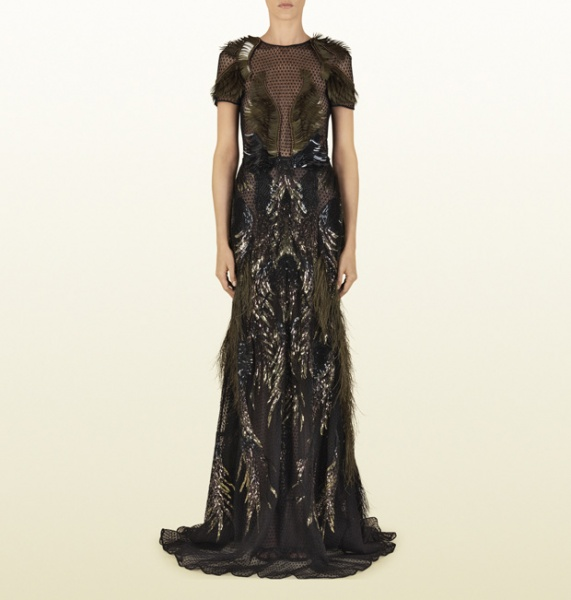Gucci Heaven\'s Embroidered Gown